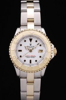 Rolex Yacht Master Gold Tachymeter White Dial