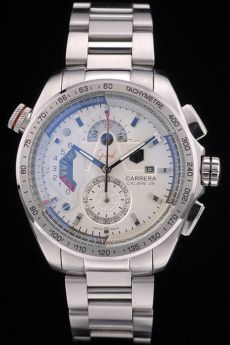 Tag Heuer Carrera Calibre 36 Stainless Steel Strap White Dial 7926