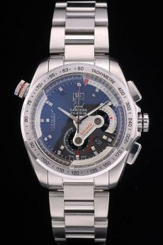 Tag Heuer Carrera Stainless Steel Case and Strap Black Dial 7909