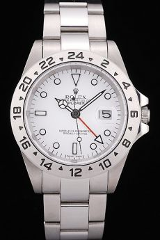 Rolex Explorer Stainless Steel Tachymeter White Dial